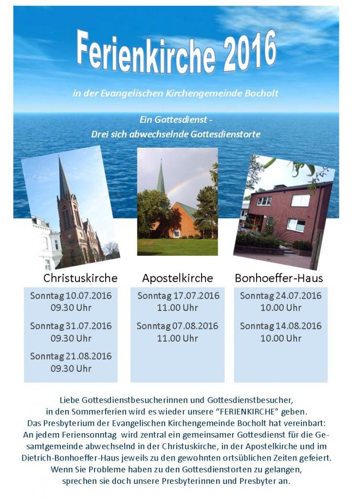 Ferienkirche 2016 - Sommer